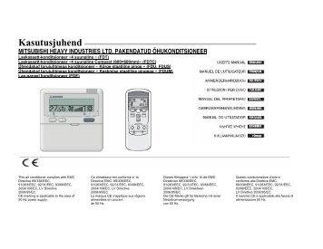 Mitsubishi PAC RC E3 kasutusjuhend (EST) - BVT Partners OÜ