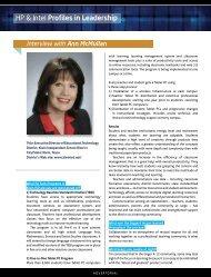HP & Intel Profiles in Leadership - Digital Learning Environments