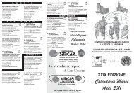 XXIX EDIZIONE Calendario Marce Anno 2011 - Runners.it