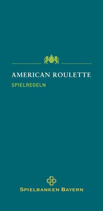 AMERICAN ROULETTE - Spielbanken Bayern