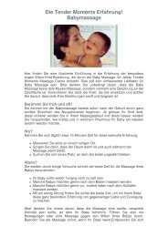 Die Tender Moments Erfahrung! Babymassage