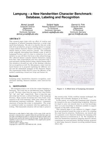 Lampung - a new handwritten character benchmark - ACM Digital ...