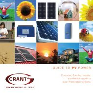 The Grant guide to solar PV