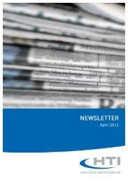 April 2011 - HTI - High Tech Industries AG