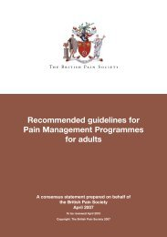 Recommended guidelines for Pain Management Programmes for ...