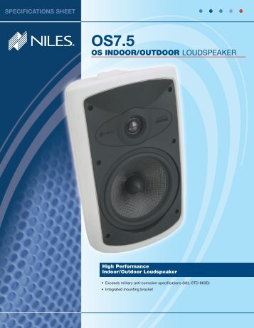 Spec Sheet - Niles Audio