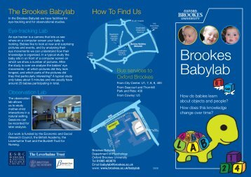 Brookes Babylab - Oxford Brookes University