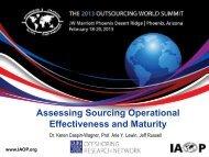 Assessing Sourcing Operational Effectiveness and Maturity - Duke ...