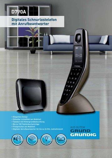 Digitales Schnurlostelefon mit Anrufbeantworter D790A