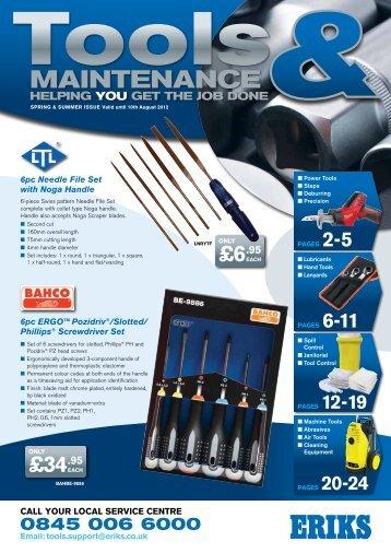 Tools & Maintenance 9 PDF - 6.51MB - View - Eriks UK