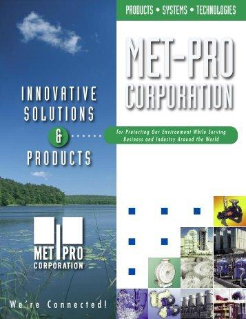 Met-Pro Environmental Air Solutions - Pristine Water Solutions Inc.