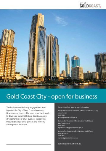 Gold Coast City - open for business - Business Gold Coast