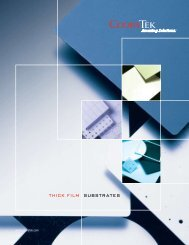 Substrates, Thick Film Brochure - CoorsTek
