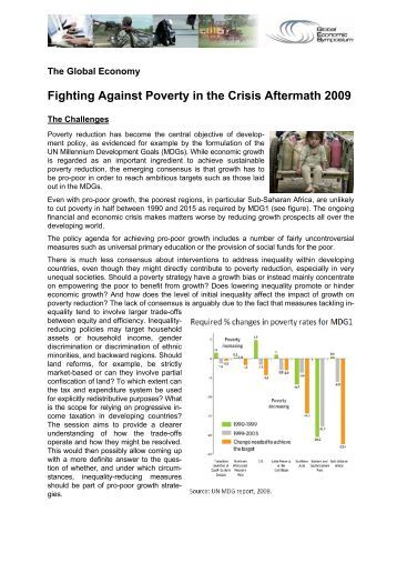 Fighting Against Poverty in the Crisis Aftermath - Global Economic ...