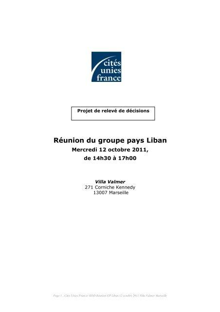 Compte rendu - Cités Unies France