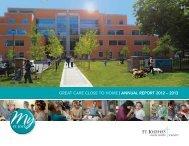 Download the Annual Report - St. Joseph's Health Centre Toronto