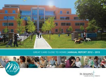 Download the Annual Report - St. Joseph's Health Centre Toronto