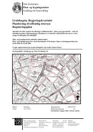Grubbegata, Regjeringskvartalet Planforslag til offentlig ettersyn ...