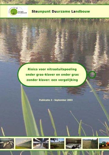 Risico voor nitraatuitspoeling onder grasklaver en ... - Meetjesland.be
