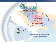 1st Calls for ordinary project proposals - IPA Adriatic Cross-Border ...
