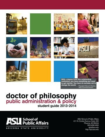 Ph.D. Student Guide - The School of Public Affairs - Arizona State ...