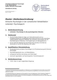 Ltd. Psychologe/in in der somatischen Rehabilitation - Psychologie ...