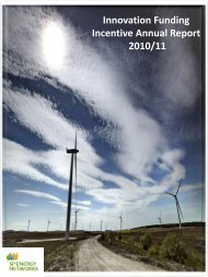 Innovation Funding Incentive Annual Report 2010/11 - ScottishPower