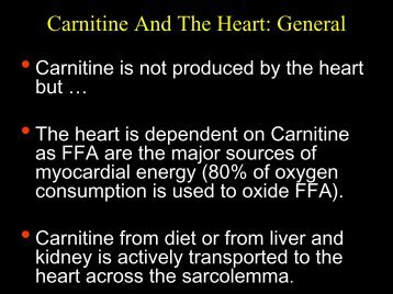 ROLE OF CARNITINE IN ISCHEMIA AND REPERFUSION
