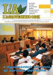 L'Agrotecnico Oggi agosto/settembre 06 - Collegio Nazionale degli ...