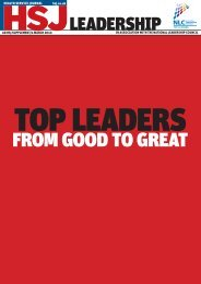 Top leaders supplement - Health Service Journal