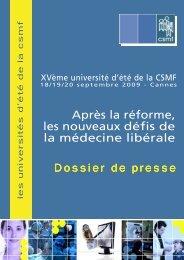 (Dossier de presse UNIV \351t\351.pub) - CSMF