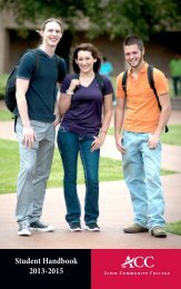 Student Handbook - Alvin Community College
