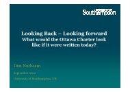 Looking Back – Looking forward