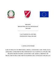 Capitolato d'oneri - Regione Molise