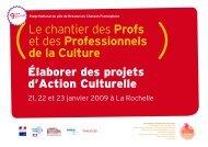 Le chantier des Profs et des Professionnels de la Culture
