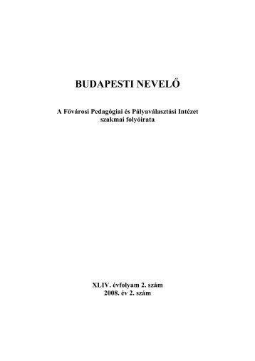 2008/2. - Mérei Ferenc Fővárosi Pedagógiai és Pályaválasztási ...