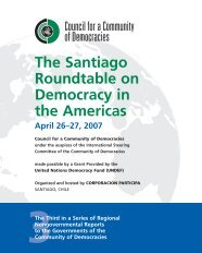 The Santiago Roundtable on Democracy in the Americas