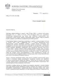 Stanowisko UKNF w sprawie due diligence w bankach - Komisja ...