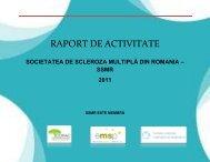 raport de activitate - Societatea de Scleroza Multipla din Romania