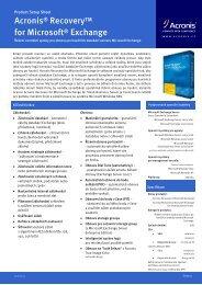 Acronis Recovery für MS SQL Server - eD system Slovakia, sro