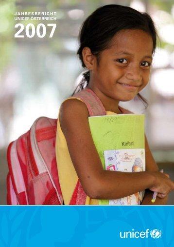 JAHRESBERICHT UNICEF ÖSTERREICH