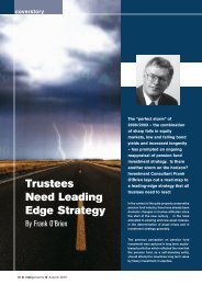 Trustees Need Leading Edge Strategy - Irish Association of Pension ...