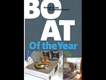 Boating Magazine, March 2006 - Pursuit Boats