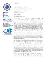 11 April 2012 David L. Phillips, Chairman of the Board Aida Araissi ...