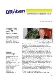 Bagger-sag op i DR- bestyrelsen - Seniorklubben for nuværende og ...