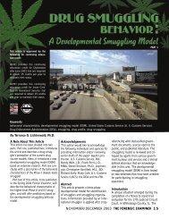 Drug Smuggling Behavior: A Developmental Smuggling Model (Part 1)
