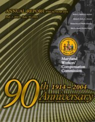 MD WCC FY 2004 Annual Report - Maryland Workers ...