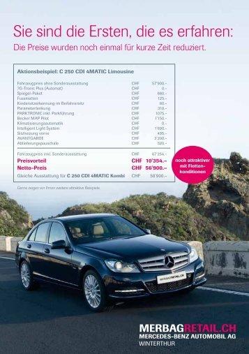 Sie sind die Ersten, die es erfahren: - Mercedes-Benz Automobil AG