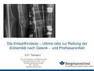 Die Kniearthrodese - Septische Chirurgie