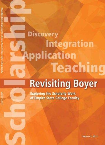 Boyer Revisted 2011 - vol 1 (PDF 1868kB) - SUNY Empire State ...